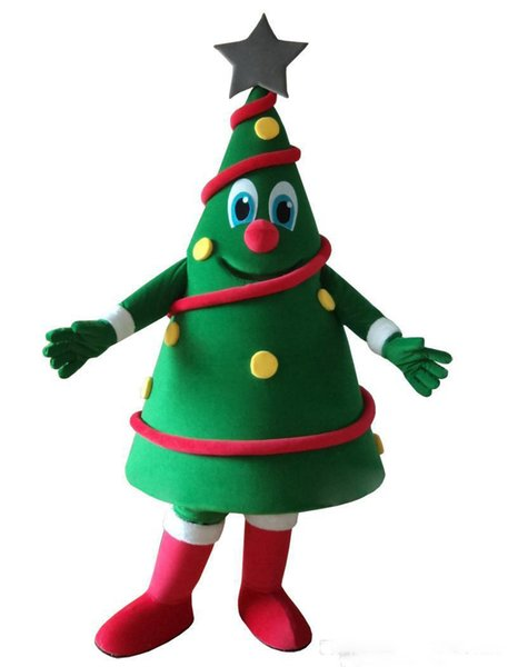 Latest de alta calidad de exportación de alta calidad trajes de la mascota nuevo diseño del árbol de Navidad del vestido de lujo hacen equipo