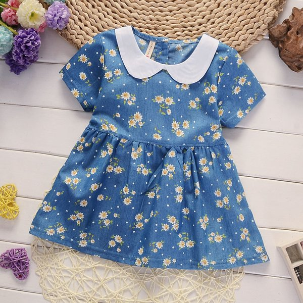 good quality newborn baby cotton dress summer infant girls daisy dress flower clothes kids tracksuit child outfit baby girl clothes