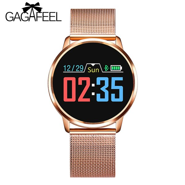 Gagafeel Q8 Smart Watch OLED Color Screen Smartwatch men Fashion Fitness Tracker Heart Rate Blood Pressure Oxygen Smartwatches