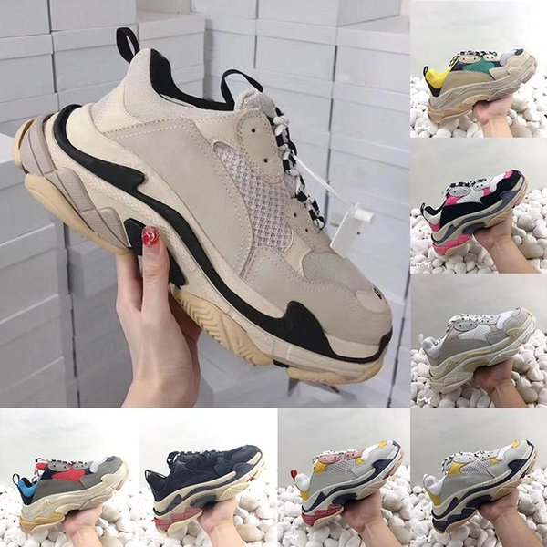 Мужские и женские кроссовки скидка удобные тройные повседневные женские модные туфли прогулочная уличная обувь дизайнер слип