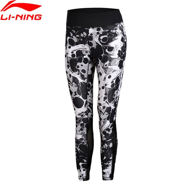 (Black Friday Clearance) Women Running Tights 78% Nylon 22% Spandex Tight Fit LiNing Professional Pants AULM224 WKY138
