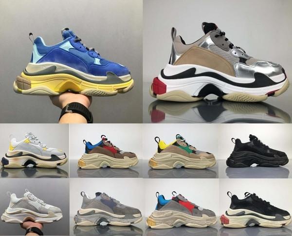 S Triple uomini e donne Retros Stivali Scarpe da corsa vintage Scarpe da uomo Alta qualità di moda Stivali Sneakers sportive Donna S Stivali sportivi