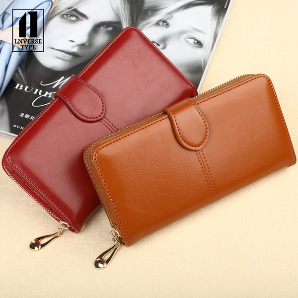 women's wallet purse Square Simple Lady wallet portable small female apric clutch mini Handbag purse Fashion business