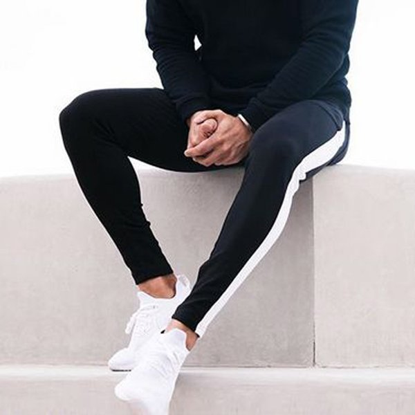 Großhandel Mode Komfortable Sporthosen Laufen Männer Neue Freizeit Enge Hosen Männliche Gedruckt Hose Kleidung Pantalon Chandal Hombre Von Weikelai,