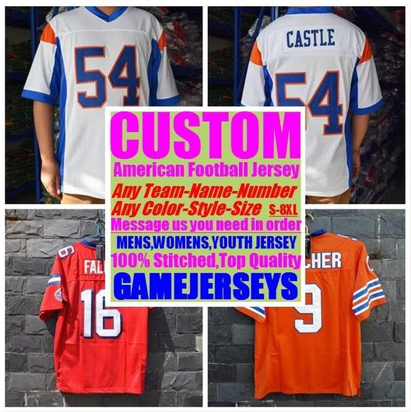 best selling Personalized american football jerseys college cheap authentic rugby retro sports jersey stitched men womens youth kids 4xl 5xl 6xl 7xl 8xl