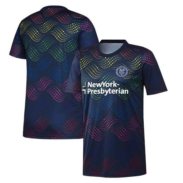 2019 MLS New York City FC Navy Pride Pre-Match Top soccer jersey 19 20 New York City FC MLS Navy Pride Pre-Match Shirt