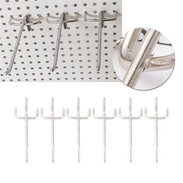 WINOMO 40 / 50pcs práticas prateleira prateleiras Hooks Supermercado Três Pé Gancho Triangular Buraco Conselho Ganchos para banheiro Loja