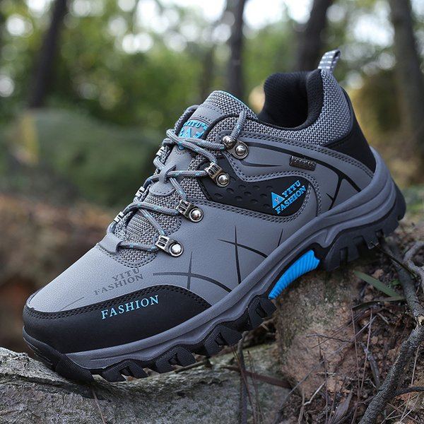 Outdoor climbing shoes wholesale spring and autumn leisure sports shoes breathable anti-skid cross-country hiking training shoes one by one