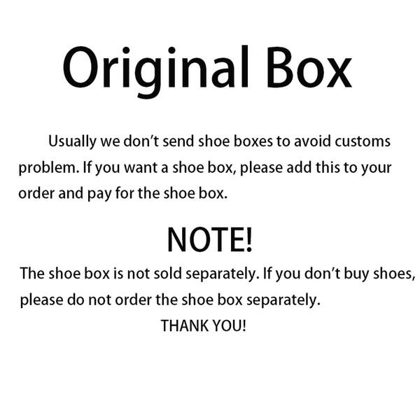 5 dollars US Boîte à chaussures d'origine pour chaussures de course de marque chaussures de basket-ball chaussures de sport à crampons et autres chaussures