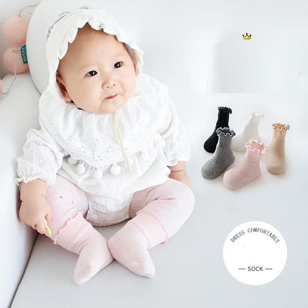 Meninas Meias de Renda Do Bebê Meninas Meias Meninas Meias de Algodão De Algodão Orelha Bebê Recém-nascido Dispensing Anti Slip Meias 19