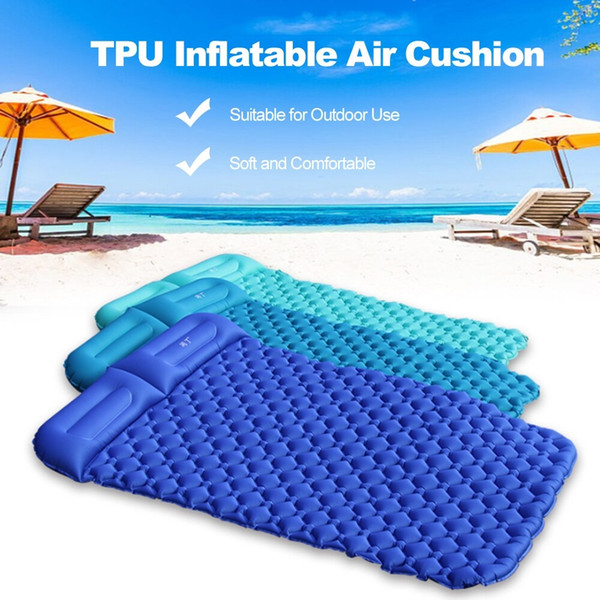 Outdoor Pads Outdoor Camping Tent Air Mats Outdoor 2 Person Inflatable Sleeping Cushion Picnic Beach Rest Soft Mattress Beach mat Air bed