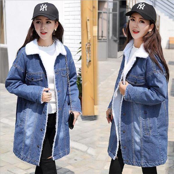 Warm Winter Denim Jacket For Women New 2019 Female Bomber Jacket Fashion Casual Girls Jackets Warm Jeans Coat Female Basic Tops Winter Jackets Jean