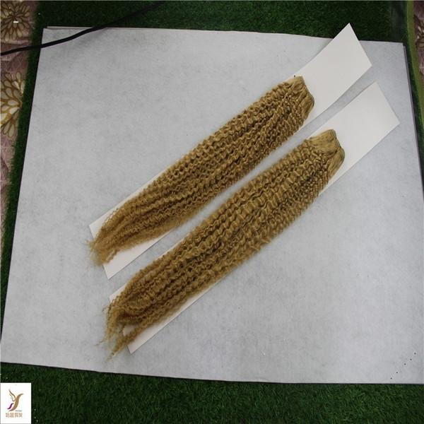 Tessuto di capelli ricci malesi di colore puro 1 bundle 10-30 pollici di estensione dei capelli umani remy 6a trama di capelli non trattati di trama doppia