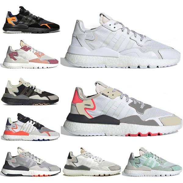 Acheter Nouveau Pas Cher Adidas Nite Jogger 3 M Réfléchissant Chaussures De Course Hommes Femmes Top Qualité Triple Noir Blanc Respirant Mens