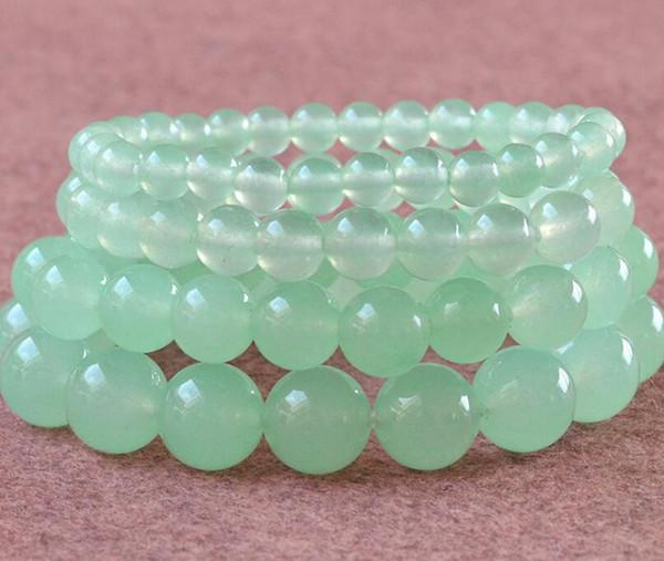 Blue Chalcedony Bracelet Beads 6-12mm Women's Bracelet Fashion Gemstone Bracelet