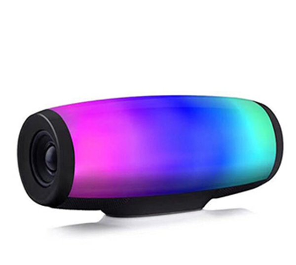 Z11 bluetooth speaker 7 colors pulse flash music mp3 player super bass handfree waterproof subwoofer SD card player with mic 1200mah power 4