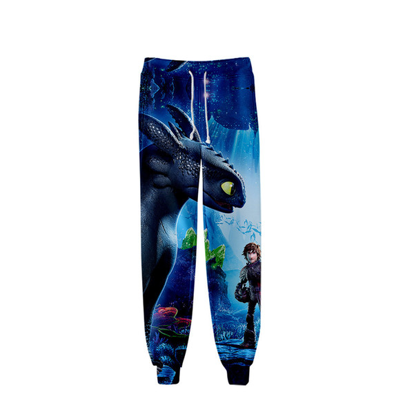 New adult How to Train Your Dragon Toothless 3 Cartoon Cosplay costume Unisex 3D digital printing fashionable pants