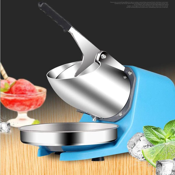 Electric Ice crusher shaver snow cone ice block making machine household commercial ice slush sand tea shop