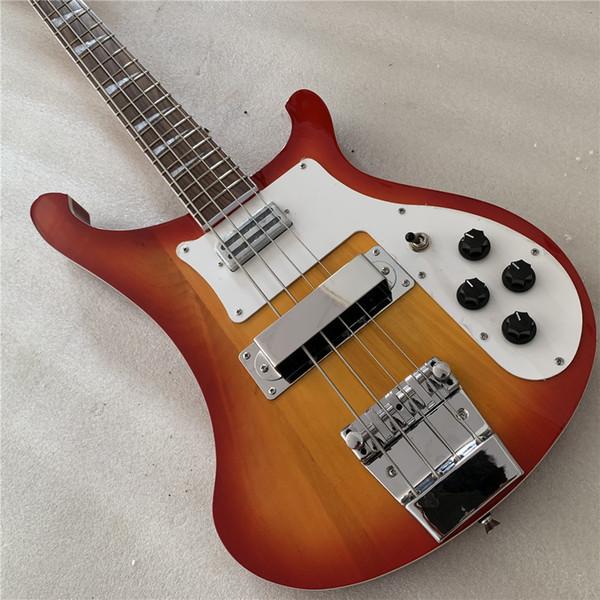 Spedizione gratuita Strumenti musicali di fabbrica Custom NUOVO Cherry burst color 4003 4 corde Rick Electric Bass Migliore qualità 725