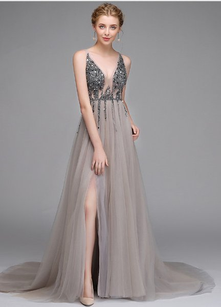 2019 new sexy long bride toast clothing evening dress high-end custom European and American foreign trade dinner dress wholesale