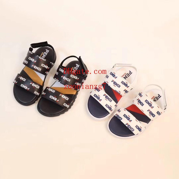 Kids sneakers Sandals cute cartoon letter print fashion toddler shoes Boy Girl rubber summer sole Non-slip beach Slide Sandal Ni-k4