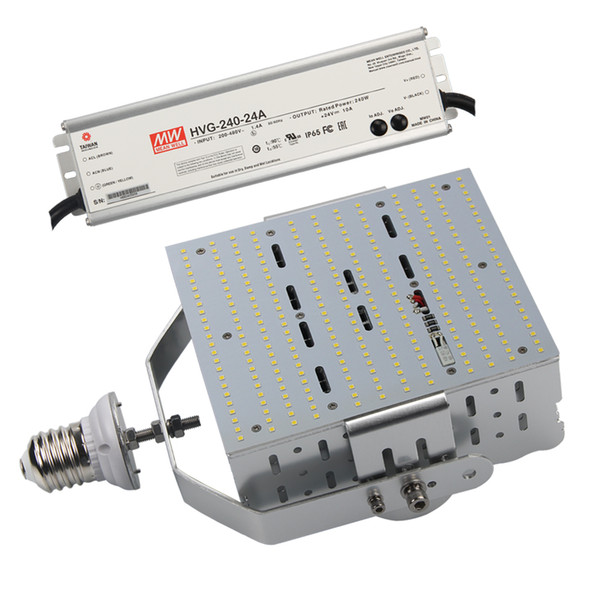 200Watt 480V 347Volt Parking Lot LED Retrofit Kit Light E39 E40 Base 5000K Daylight White Replace 1000W Metal Halide Street Area Light