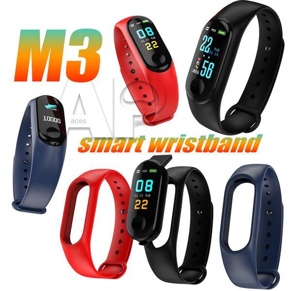 M3 Smartwatch Smart Band Bracelet Heart Rate Watch Activity Fitness Smart Tracker PK fitbit XIAOMI apple watch with Package