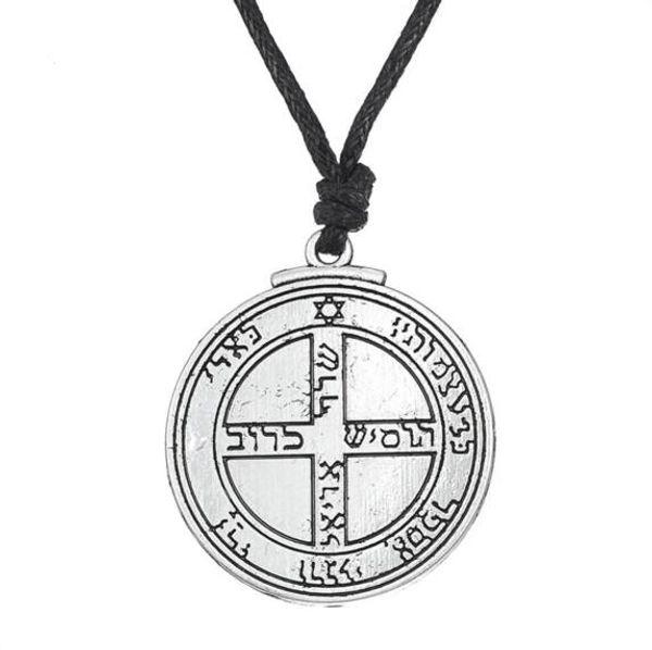 Süleyman'ın Mühür Kolye Tılsım Jüpiter Pentagramı kabala Wiccan Kolye Takı