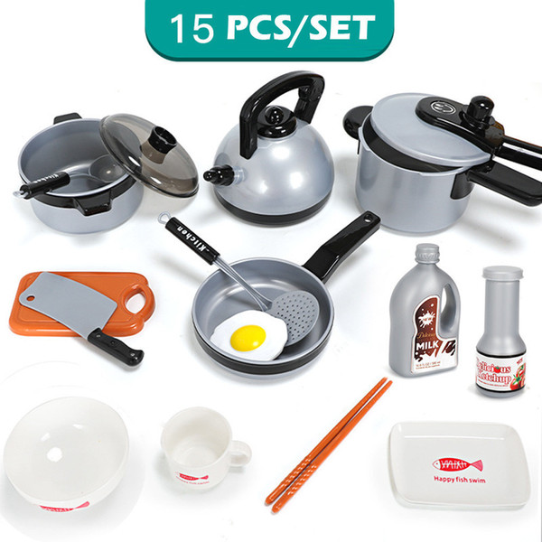 2019 Children Kitchen Play Toy 9/11/Pots Pans Cookware Kids Pretend Play  Educational Toys Children Kitchen Toys Sets Gifts From Guichengame, $19.46  | ...