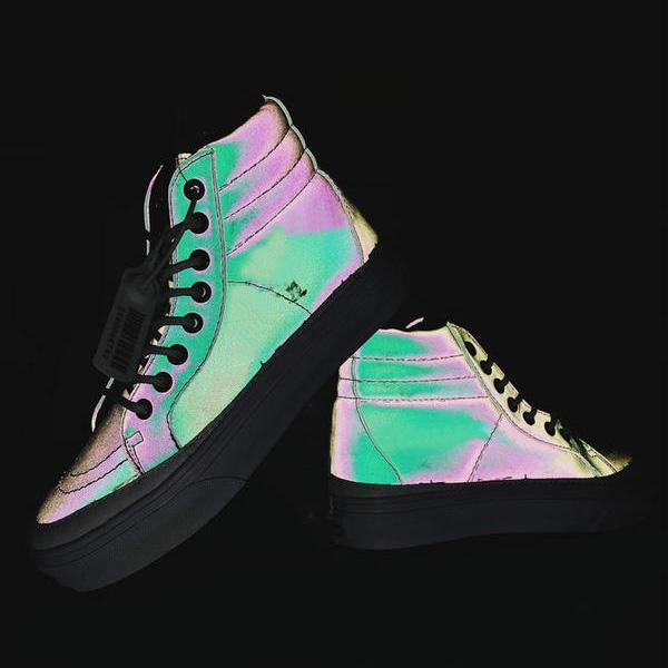 Mens SK8-hi Demon Canvas Boots for Female SK8 hi Vulcanized Shoes Male 3M Skateboarding Shoe Womens Reflective Skateboard Sneakers Women
