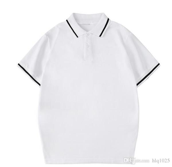 Yaz Moda T Tasarımcı Erkekler Tasarımcı için Kısa Kollu Katı Renk T Shirt erkek Crewneck Casual Tops 2 Renkler