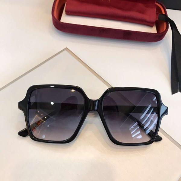 0375S Square Sunglasses Black Grey Shaded Sun Glasses Sonnenbrille gafas de sol luxury brand design sunglasses New wth Box