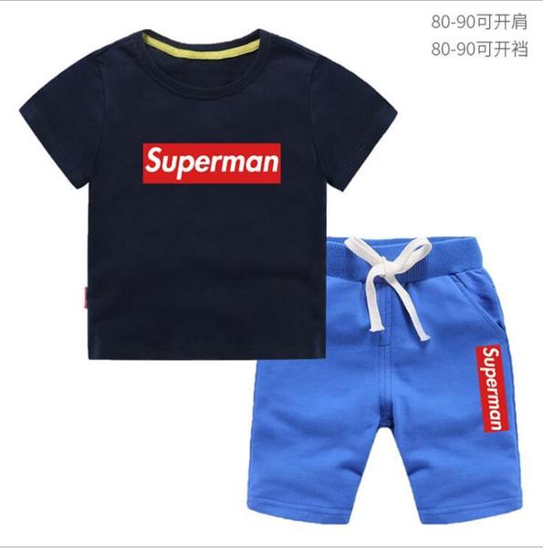 Garçons et Filles T-shirts et Shorts de marque Costumes Marques Sportswear Ensembles de vêtements pour enfants Vente chaude Fashion Summer T-shirts pour enfants 2-8T