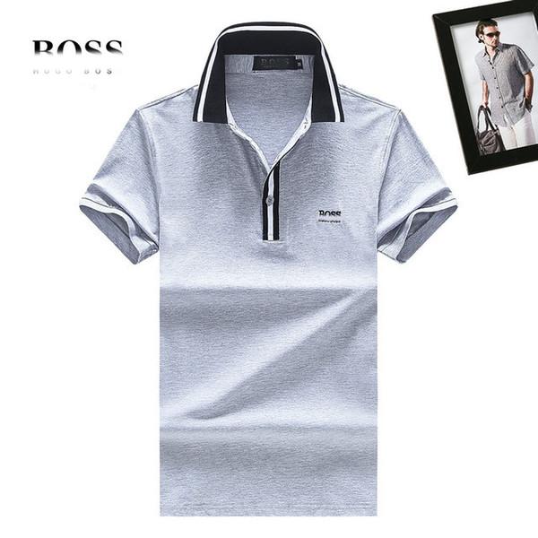 BOS T shirts red tees trend famous designer Tshirt fashion brand mens Tshirts classic embroidery BOS polo shirt quality cotton men tee shirt