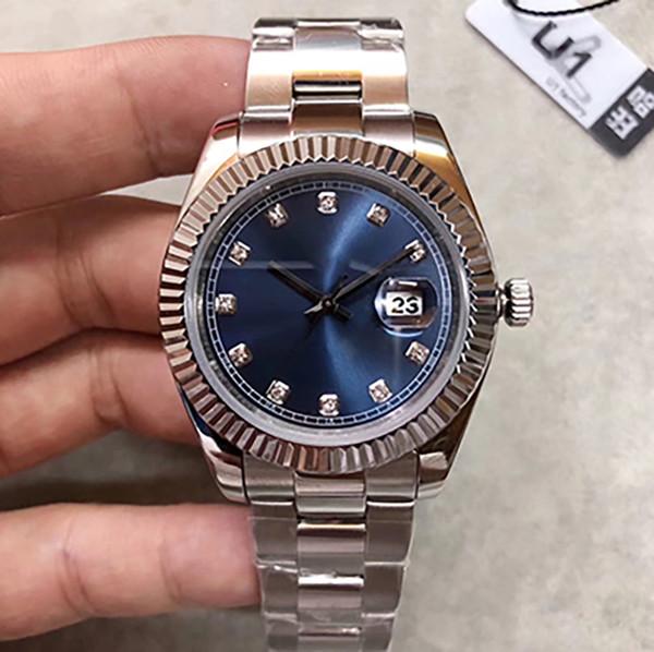 2019 U1 factory new best-seller 41MM esfera con dial de oro rosa para hombre Fecha serie m126331 relojes mecánicos originales de alta calidad