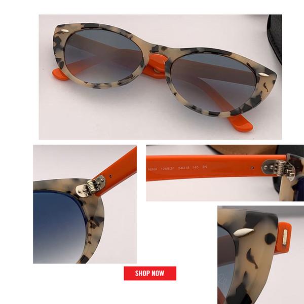 2019 nuovo arrivo cat eye nina occhiali da sole donne uv400 lente sfumata occhiali da sole vintage 4314 oculos feminino viaggio guida gafas de sol