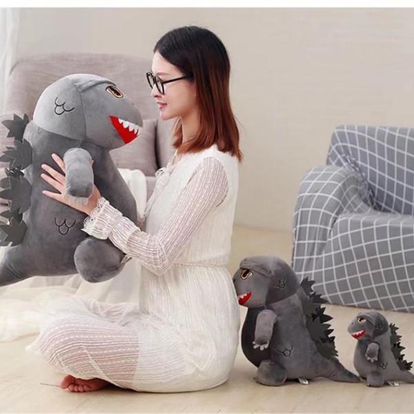 2019 New Arrvial alta qualidade Godzilla bichos de pelúcia brinquedos figura presentes de natal brinquedos presentes de aniversário brinquedos venda quente frete grátis