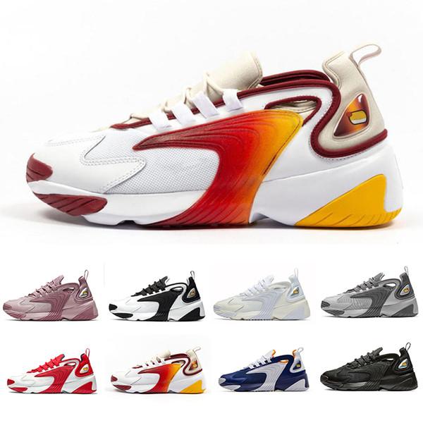Nike Triple Black Creamy White Zoom 2K M2K men running shoes Tekno Race Red Royal Blue Dark Grey for men's women sports sneaker 36-45