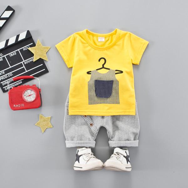 Children Clothes Set Boys Casual Sport Clothing Sets 2PCS Cotton Shirt+Short Pant Trouser Kids T shirt+Shorts Clothes for Summer