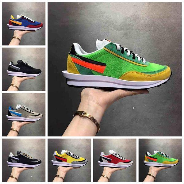 Acheter NIKE 2019 Nouveau Sacai LDV Gaufre Daybreak Hommes Baskets Pour Femmes Chaussures De Course Designer De Mode Tripe S Sneakers Eur 36 45 De