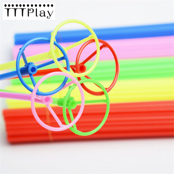 50 Sets 40cm Foil Balloon Stick Colorful Pvc Rods Supplies Balloons Holder Sticks With Cup Party Decoration Balloon Accessories Y19061704