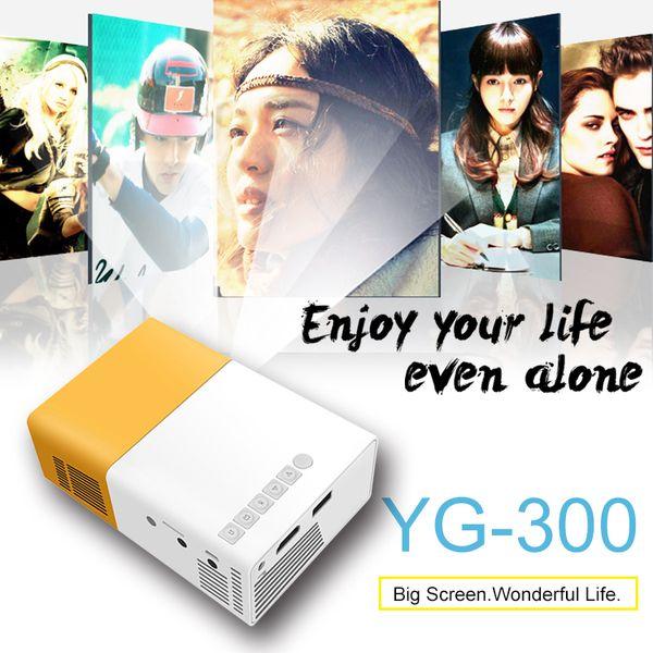 YG300 Mini Protector USB2.0 Tragbarer Projektor LED-Licht Home Media Player Für Theater Kinder Bildung Beamer Projektor