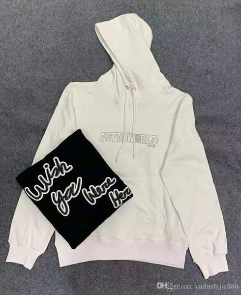 New Travis Scott AstroWorld Hoodies Hommes Femmes Chicago exclusive stéréo impression Streetwear AstroWorld Sweat à capuche S-XL