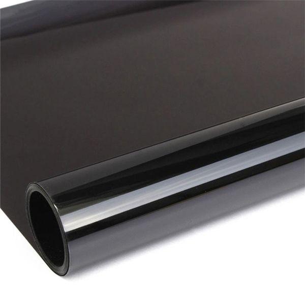 50 cm x 6 m Película de la ventana del coche Ventana Tinte Película Vidrio negro VLT 50% Rollo 2 PLY Auto Car Glass Solar Protección solar