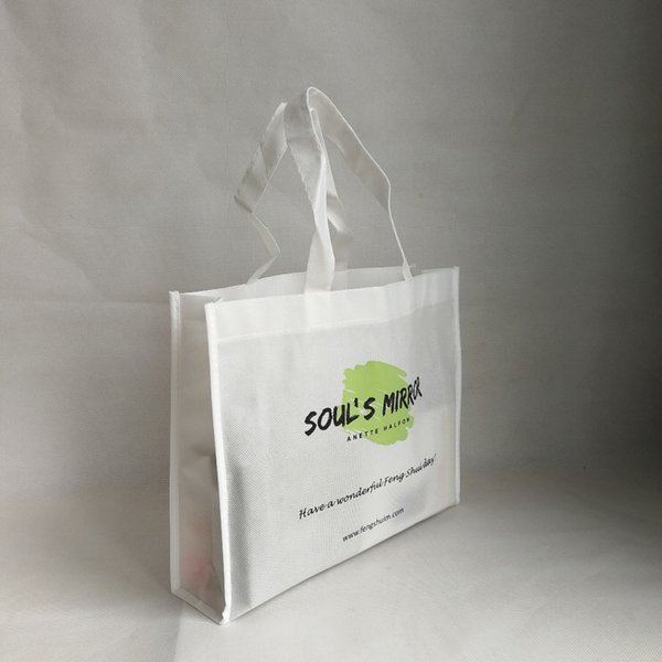 Wholesales 1000pcs/lot Customized Logo Promotional Shopping Bags Eco-friendly Foldable Non Woven Storage Tote Bags with Handles