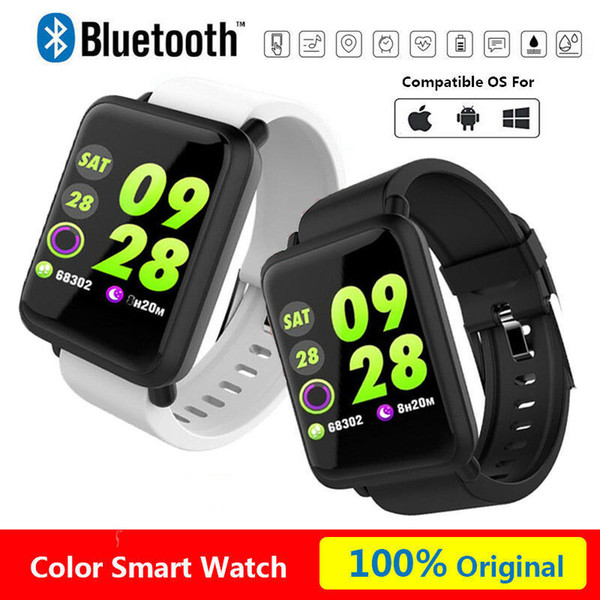 Smart Watch Bracelet M28 Bluetooth Camera SIM Slot IP67 Waterproof For HTC Samsung iPhone iOS & Android With Retail Box