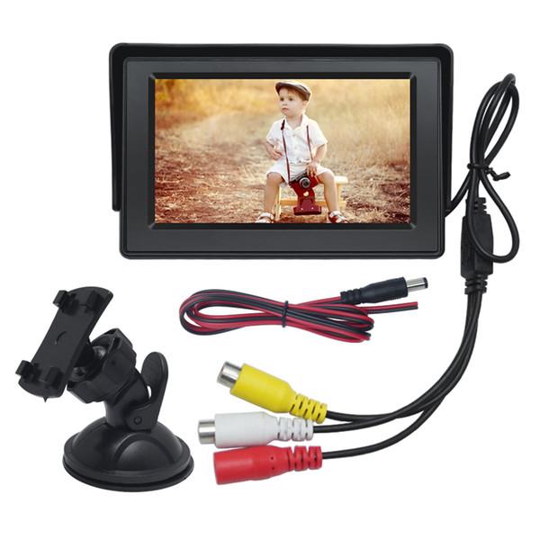 LEEWA 4.3inch Digital Display Windshield LCD Car Monitor For Reversing Backup Camera DVD VCR #4590