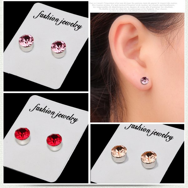 non ear hole cuff Health Magnet Earrings Strong Magnetic Boys And Girls Fake Stud Post Ear hot sale Models jewelry C00006