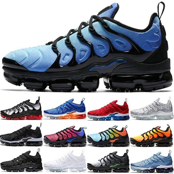 Nike Air Vapormax Barato TN Plus Homens Mulheres Tênis de Corrida Por do sol Triplo Preto Branco Jogo Real Trabalho Azul Hyper Violeta Volt Top Designer Trainer Esporte Sapatilha