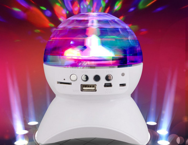 Wireless Bluetooth Speaker With Built-In Light Show Party/ Disco DJ Stage & Studio Effects Lighting RGB Color Changing LED Crystal Ball